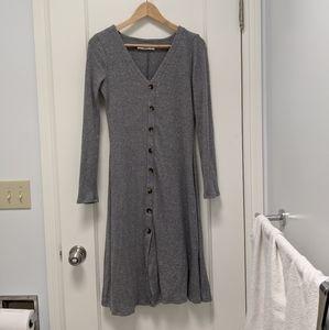 Double Zero Gray Knit Cardigan Dress